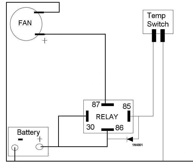 Wiring Diagram Car Relay : Electric fan fitting